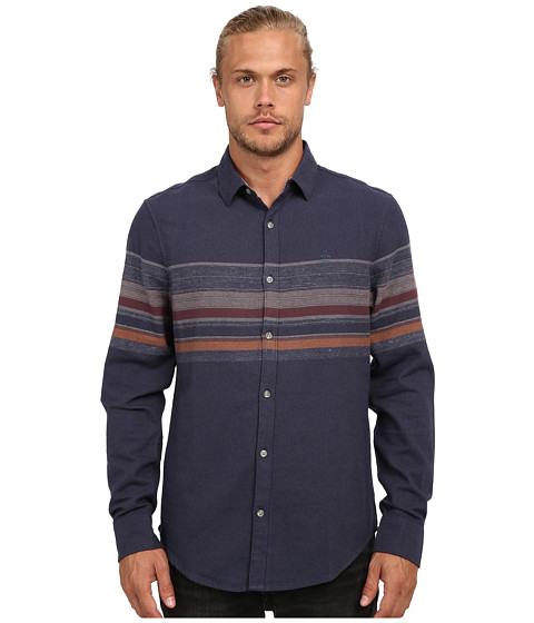Imbracaminte Barbati Original Penguin Engineered Stripe Woven Long Sleeve Heritage Shirt Dark Denim
