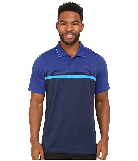 Imbracaminte Barbati Nike Momentum Stripe Polo Midnight NavyDeep Royal BluePhoto BlueReflect Black