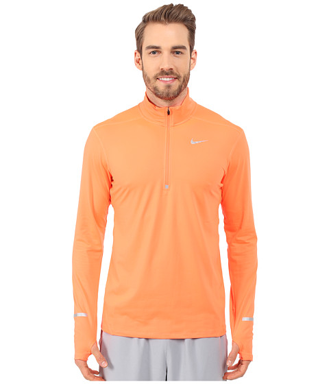 Imbracaminte Barbati Nike Dry Element Long Sleeve Running Top Hyper OrangeReflective Silver