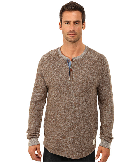 Imbracaminte Barbati Lucky Brand Long Sleeve Heathered Henley Khaki