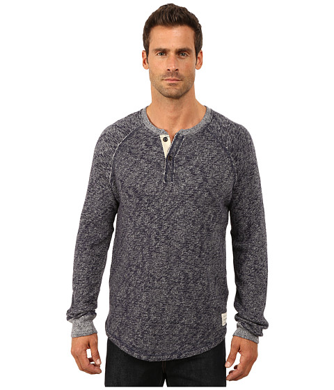 Imbracaminte Barbati Lucky Brand Long Sleeve Heathered Henley Navy