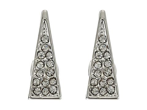 Bijuterii Femei Rebecca Minkoff Triangle Pave Ear Climbers Earrings Imitation RhodiumCrystal