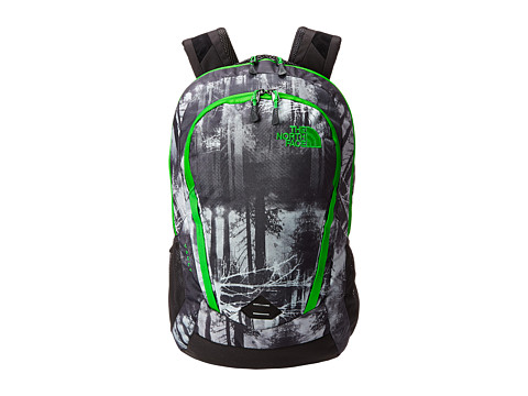 Genti Femei The North Face Vault Graphite Grey Silhouette Forestscape PrintKrypton Green