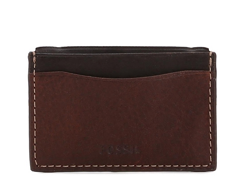 Accesorii Barbati Fossil Fossil Reynolds Leather Card Case Brown