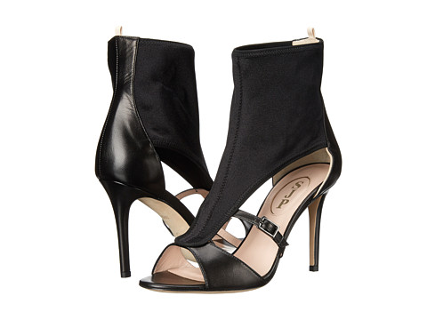 Incaltaminte Femei SJP by Sarah Jessica Parker Walsh Black LeatherLycra