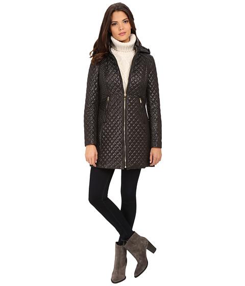 Imbracaminte Femei Via Spiga Hooded Diamond Quilt Coat Black