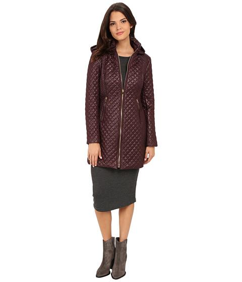 Imbracaminte Femei Via Spiga Hooded Diamond Quilt Coat Marsala
