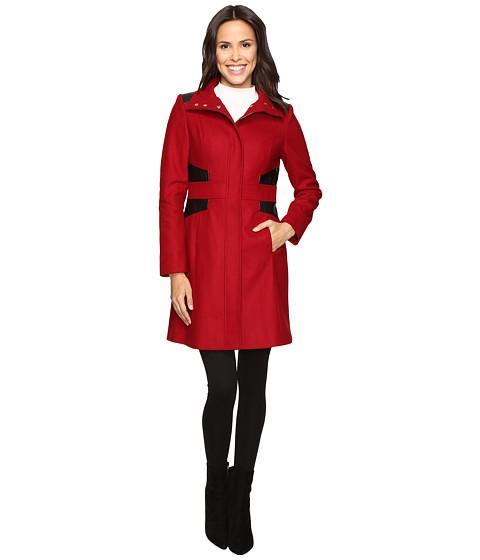 Imbracaminte Femei Via Spiga Stand Collar Coat w PU Via Red
