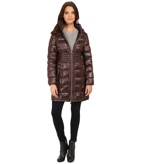 Imbracaminte Femei Via Spiga Hooded Packable Coat w Corset Waist Copper