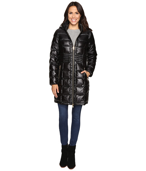 Imbracaminte Femei Via Spiga Metallic Hooded Packable Down Coat Black