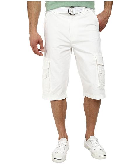 Imbracaminte Barbati UNIONBAY Cordova Belted Cargo Short White