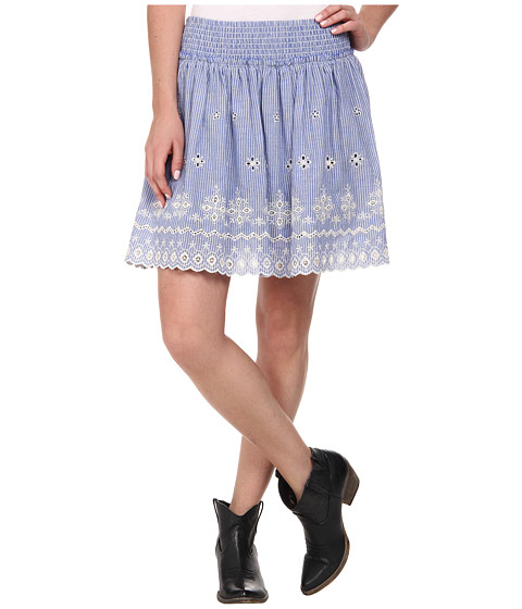 Imbracaminte Femei Ariat Chambray Border Skirt Blue