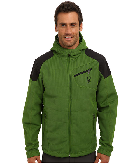 Imbracaminte Barbati Spyder Outsetter Insulated Hybrid Mid Weight Core Sweater Mountain TopBlack