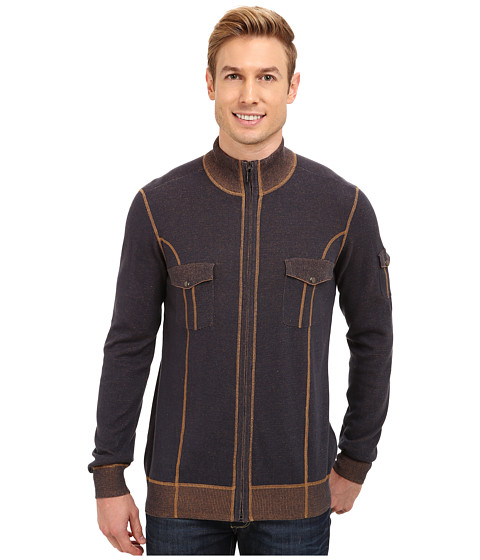 Imbracaminte Barbati Ecoths Brady Full Zip Sweater Mood Indigo
