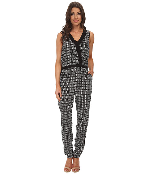 Imbracaminte Femei Adrianna Papell Cross-Over Jumpsuit w Solid IvoryBlack