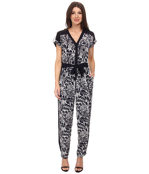 Imbracaminte Femei Adrianna Papell Drop Shoulder Jumpsuit NavyIvory