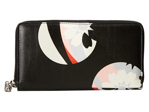 Genti Femei Alexander McQueen Contin Zip Wallet BlackGeisha Pink
