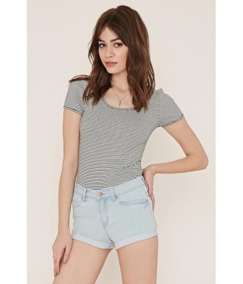 Imbracaminte Femei Forever21 Cuffed Denim Shorts Light denim