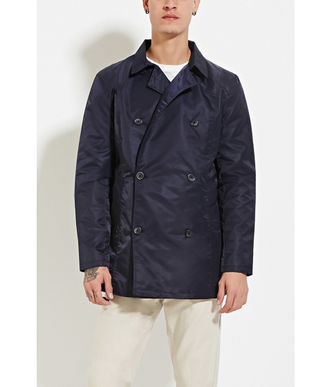 Imbracaminte Barbati Forever21 Double-Breasted Jacket Navy