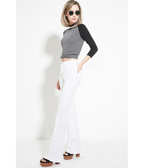 Imbracaminte Femei Forever21 Flared Jeans White