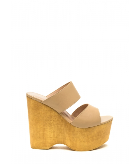 Incaltaminte Femei CheapChic Steeple Chase Platform Wedges Natural