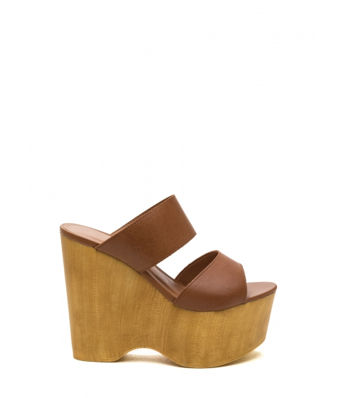 Incaltaminte Femei CheapChic Steeple Chase Platform Wedges Whisky