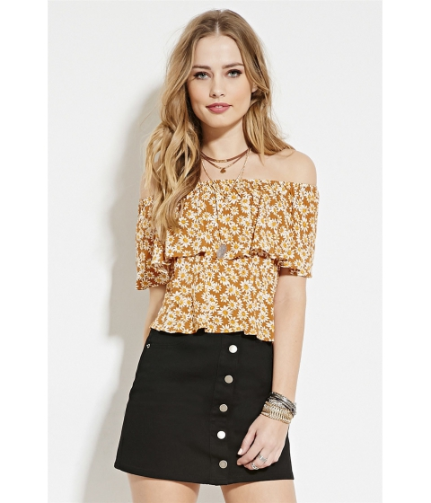 Imbracaminte Femei Forever21 Daisy Off-The-Shoulder Top Amberyellow
