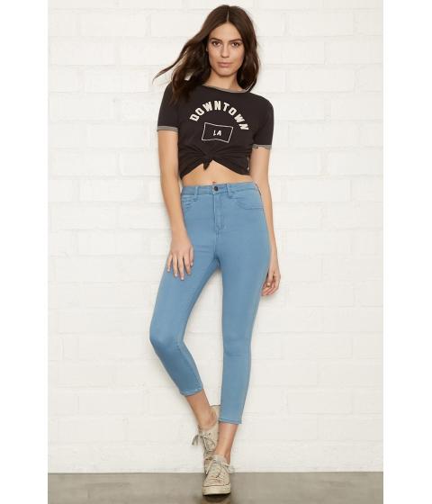 Imbracaminte Femei Forever21 The Fairfax Crop Jean Sky blue