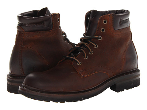 Incaltaminte Barbati Frye Freemont Lace Up Whiskey Textured Full Grain