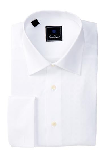 Imbracaminte Barbati David Donahue Long Sleeve Regular Fit Solid Dress Shirt WHITE