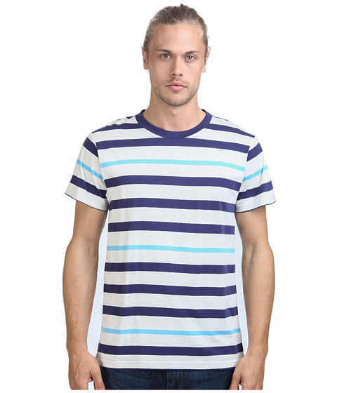 Imbracaminte Barbati Alternative Apparel Cotton Modal Stripe Crew Cambridge Blue Stripe