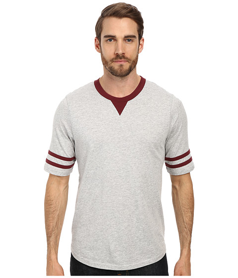 Imbracaminte Barbati Alternative Apparel Cotton Modal Football Tee Heather Grey