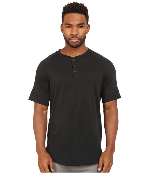 Imbracaminte Barbati Alternative Apparel Cotton Modal Locals Only Henley Black