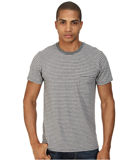 Imbracaminte Barbati Alternative Apparel Perfect Pocket Tee Heather Grey London Stripe