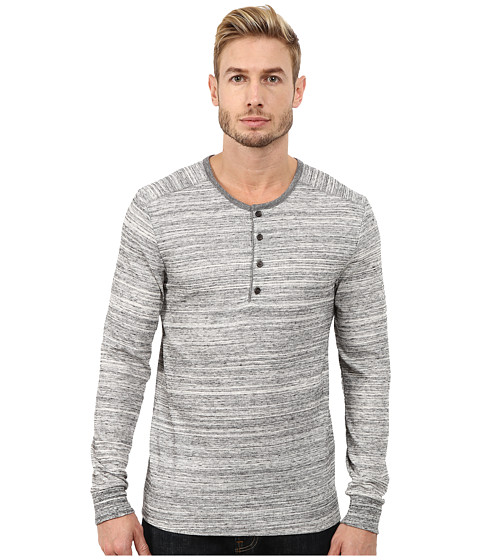 Imbracaminte Barbati Alternative Apparel Eco Space Dyed Thermal Frontier Henley Urban Grey
