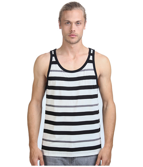 Imbracaminte Barbati Alternative Apparel Cotton Modal Stripe Tank Top Black Stripe
