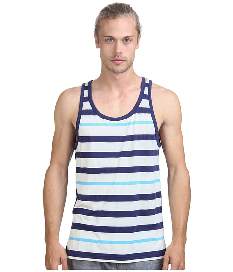 Imbracaminte Barbati Alternative Apparel Cotton Modal Stripe Tank Top Cambridge Blue Stripe