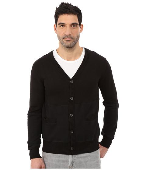 Imbracaminte Barbati Alternative Apparel Sweater Knit Letterman Cardigan Black