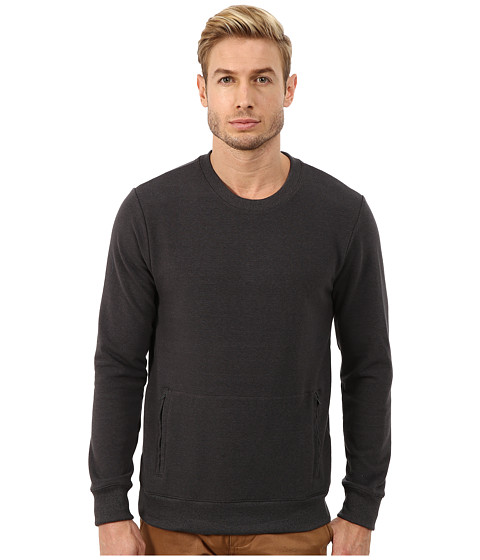 Imbracaminte Barbati Alternative Apparel Eco Stretch Mock Twist Commuter Crew Neck Eco Black