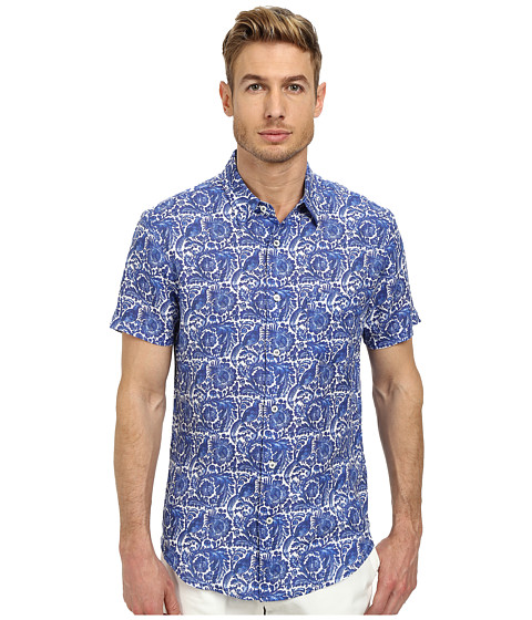 Imbracaminte Barbati Mr Turk Slim Jim Short Sleeve Shirt Blue