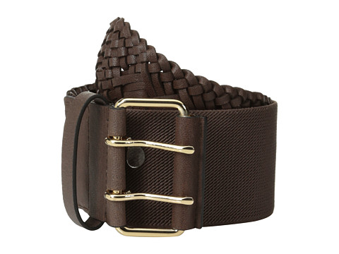 Accesorii Femei BCBGMAXAZRIA Faux Leather Waist Belt Dark Brown