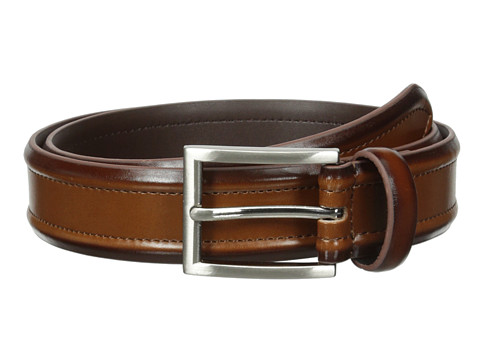 Accesorii Barbati Florsheim Dress Casual Burnished Leather Belt 32mm Cognac
