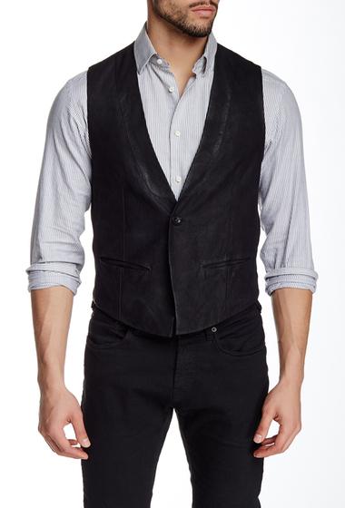 Imbracaminte Barbati John Varvatos Cut Away Suede Vest BLACK