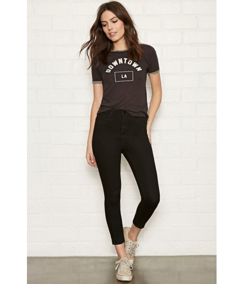 Imbracaminte Femei Forever21 The Larchmont High Rise Jean Black