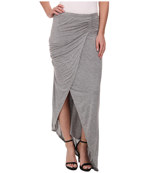 Imbracaminte Femei Michael Stars Collection Draped Skirt w Asymmetrical Hem Heather Grey