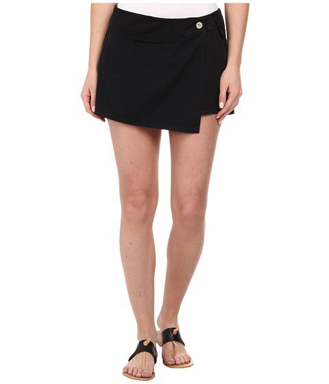 Imbracaminte Femei Michael Stars Cotton Twill Asymmetrical Wrap Skort Black