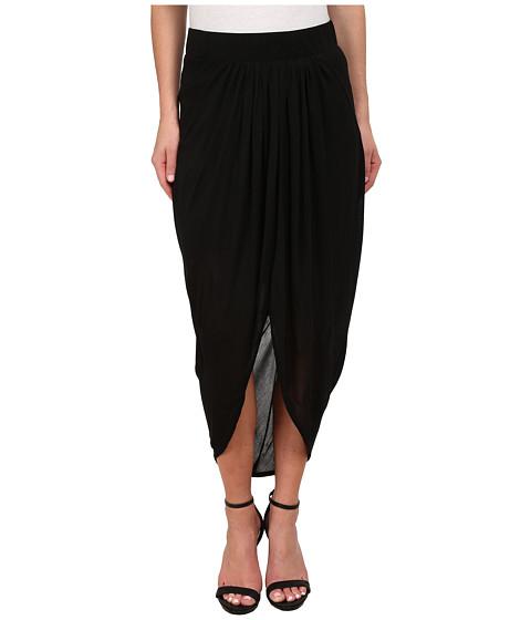 Imbracaminte Femei Michael Stars Micro Modal Draped Front Midi Skirt Black