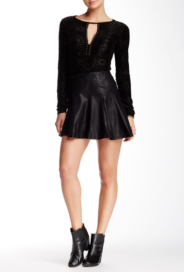 Imbracaminte Femei Free People About A Girl Faux Leather Mini Skirt BLACK