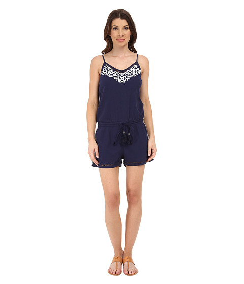 Imbracaminte Femei Michael Stars Embroidered Gauze Romper NavyWhite