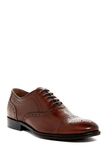 Incaltaminte Barbati Johnston Murphy Tyndall Cap Toe Oxford - Wide Width Available MAHOGANY